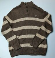Vintage Mens Chaps Ralph Lauren Striped Sweater Jumper Long Sleeve Size Large L