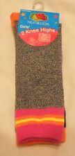 Fruit of the Loom Knee Highs Girls Socks Shoe Sz 6-10.5 Small D6904