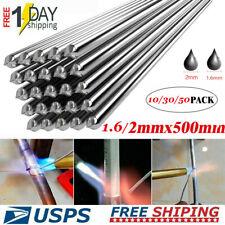 10-50pcs 1.6/2.0x500mm Solution Welding Flux-Cored Rods Aluminum Soldering New