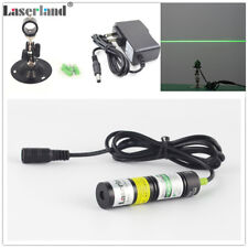 1875 Industrial 532nm 10mW Green Laser Line Module w/ power adapter and bracket