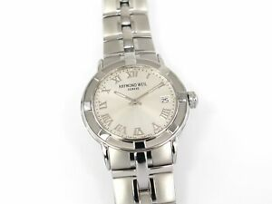 Raymond Weil Parsifal Silver Roman Numeral Dial 37mm Box & Papers 9541-ST-00658