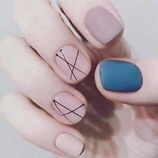 False Nails Press On Geometric Pre-designed High Quality Elegant Manicure Decors
