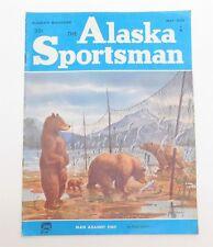 Vintage ALASKA SPORTSMAN Magazine May 1956 Hunting Fishing Ivory Gold Jade Ads