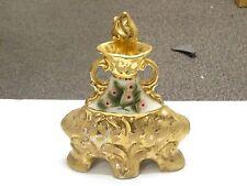 Jim Beam Kentucky Pink Flower Whiskey Liquor Bottle Decanter Bottle Regal Gold