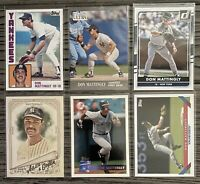 ⚾️Don Mattingly 6-CARD LOT including really nice ROOKIE 1984 Topps #8