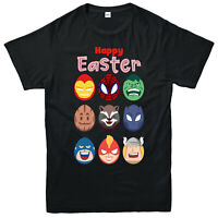 Happy Easter Superheroes Eggs T-Shirt Marvel Comics Supereggs Funny Easter Tops