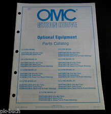 OMC Cobra Optional Equipment Parts Catalog 1985