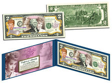 $2 NEW ITEM -LUCILLE BALL-100TH. BIRTHDAY-  Legal US 2 DOLLAR BILL GIFT -LOOK !