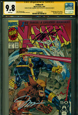 X-MEN #1 CGC 9.8 3X SS BY STAN LEE, JIM LEE & CLAREMONT!!! WOLVERINE COVER!