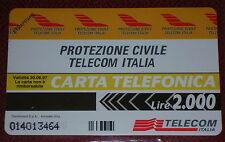 PROTEZIONE CIVILE TELECOM IT. ( GOLDEN PRP 298 ) SCHEDA TELEFONICA TELECOM NUOVA