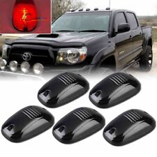 1 Set Red LED Smoked Lens Cab Roof Marker Running Lights For Car Truck SUV 4x4