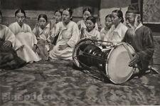 1929 KOREA Original Photo Gravure SEOUL DANCING School Women Asian Art HURLIMANN