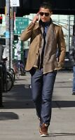 Gucci Runway HERITAGE Silk-Cotton Tan Blazer Jacket 46 IT CRISTIANO RONALDO,RARE