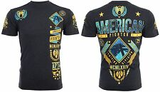 American Fighter Mens S/S T-Shirt LANDER Athletic BLACK YELLOW Biker S-3XL $40