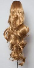 Extensions de cheveux queues de cheval blonds ondulés pour femme