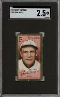 1911 T205 Gold Border John Bates Sweet Caporal Philadelphia SGC 2.5 GD +