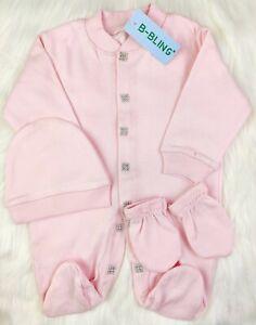 Newborn Baby Clothes Boy Girl Romper  Cap Mittens Set