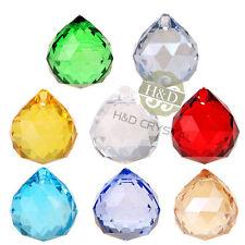 8x Kristalltropfen Kristall Glas Kugel Behang für Kronleuchter Lapme Anhänger