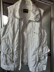 Ladies Gerry Webber White Gillet Size 18 excellent condition