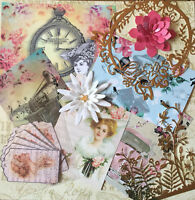 Craft clearout mix, card toppers / paper die cuts, bundle joblot vintage bun