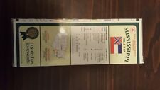 STATE FARM MISSISSIPPI ROAD MAP RARE LAMINATED COLLECTIBLE 1996