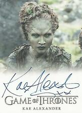 "Game of Thrones Season 6 - Kae Alexander ""Leaf"" Autograph Card"