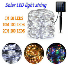 Solar powered LED Light Outdoor Garden Patio Fairy String Waterproof Rope Strip
