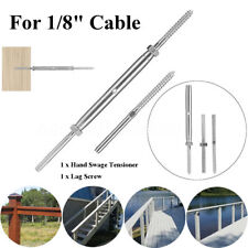 """New Deck Toggle T316 Stainless Steel Tensioner Set F 1/8'' 3/16"""" Cable Railing"""