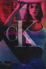 Lote de 2 carteles: publicidad: Calvin Klein Jeans-Kate Moss-Sexy Modelo RP56 E