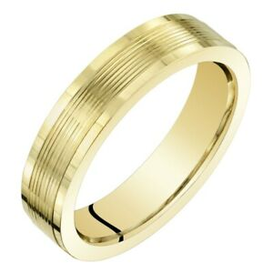 Womens 14K Yellow Gold 4mm Wedding Anniversary Ring Band Sizes 4 to 9