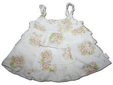 Rare JOTTUM Size 74 12 months Blush Rose Tiered Ruffle Swing Top PINK ROSES
