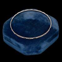 Antique Vintage Art Deco Sterling 800 Silver Saudi Arabia Crest Bangle Bracelet