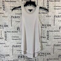 Banana Republic Womens Shirt Solid White Knit Sleeveless Size XS