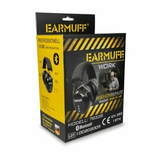 EARMUFF 78228 mit CE, SNR 31dB BLUETOOTH Digital Gehörschutz Kopfhörer mit Akku