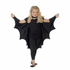 Child Vampire Bat Wings Kids Dracula Halloween Fancy Dress Boys Girls Cape