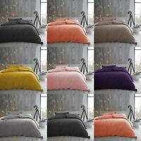 Premium Teddy Bear Fleece Pom Pom Duvet Cover Ultra Soft Warm Cosy Bedding Set
