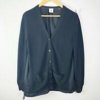 Cabi Size Small Black Windbreaker Cardigan Sweater Cotton Long Sleeve #5143