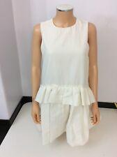 Victoria Beckham Cream Short Sleeve Dress Size 38 Uk 10 Vgc Sleeveless