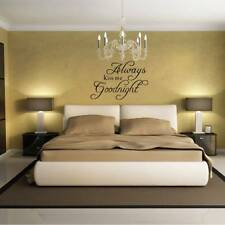 Home Love Quote ALWAYS KISS ME GOODNIGHT Wall Sticker Bedroom Decal Art Decor