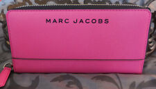 MARC JACOBS ~Branded Saffiano Standard Continental Wallet ~VIVID PINK~ NWT $150