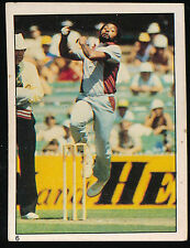 1982 Scanlens Cricket Sticker unused number 6 Andy Roberts