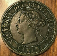 1882H CANADA LARGE CENT COIN LARGE 1 CENT PENNY - Obverse#1 - Excellent example!