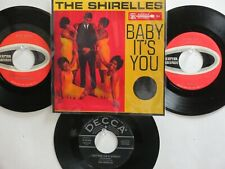 LOT OF 4 ' THE SHIRELLES ' HIT 45's+1P(Copy)[Baby It's You]  THE 50's&60's!