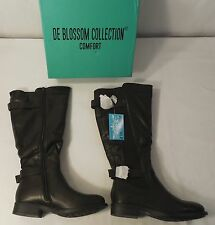 DE BLOSSOM COLLECTION GE13 Women's Elastic Wide Calf Riding Boots , Size 5.5 - 6