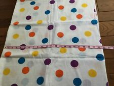New listing Vintage Cotton Fabric Multi Color Polka Dots/White 42Wx136� 3+Yd. Semi-Sheer