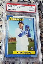 HYUN JIN RYU 2013 Topps Archives Rookie Card RC Logo PSA 10 GEM MINT Dodgers HOT