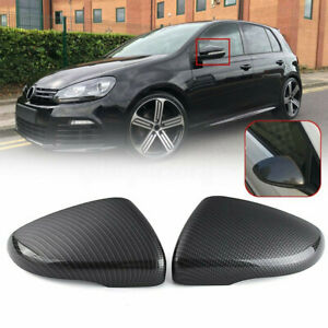 For Volkswagen VW Golf 6 MK6 GTI Carbon Fiber Style Rear View Mirror Cover