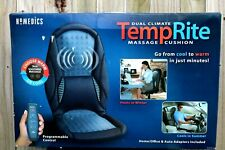 HOMEDICS DUAL CLIMATE TEMPRITE MASSAGE HEAT OR COOL CUSHION FOR HOME OR CAR