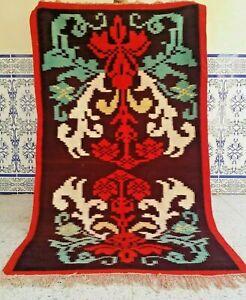 "Vintage Moroccan Handmade Kilim Rug Tribal Berber Carpet azilal wool 6'5"" x 3'6"""