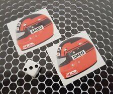 x 2  gilles villeneuve Helmet Stickers McLaren Formula 1 F1